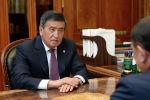 Президент Кыргызской Республики Сооронбай Жээнбеков встретился с Торага Жогорку Кенеша Кыргызской Республики Дастанбеком Джумабековым по случаю начала работы очередной сессии парламента страны. 3 сентября, 2019 года