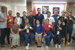Чествование победителей и членов сборной Кыргызстана на Всемирных играх боевых искусств, которые проходят с 30 августа 2019 г. в г.Чунгджу, Южная Корея.