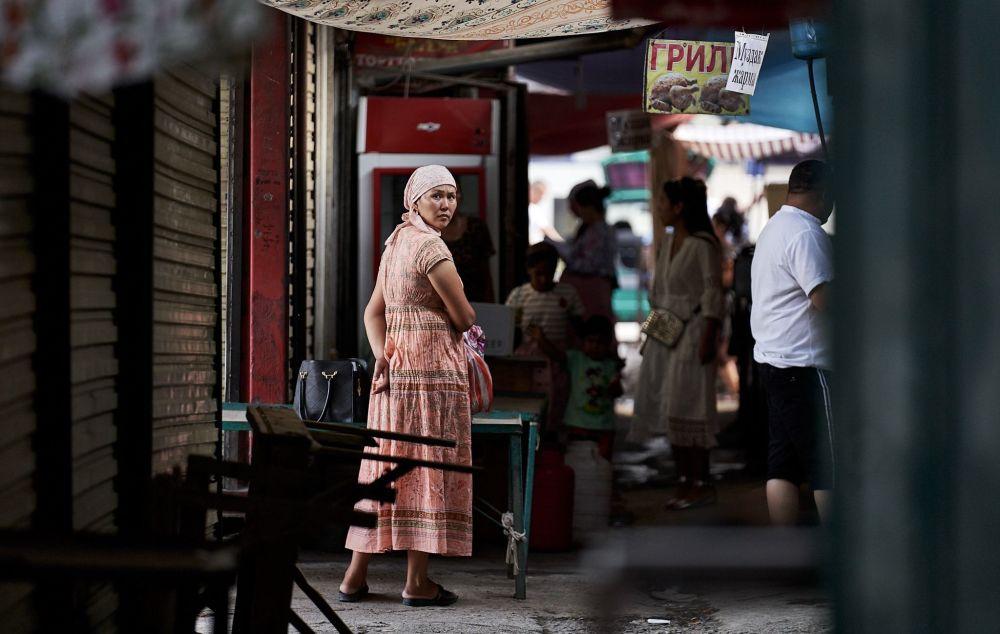 Женщина на рынке