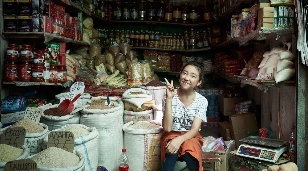 Снимок сделан на рынке в Оше