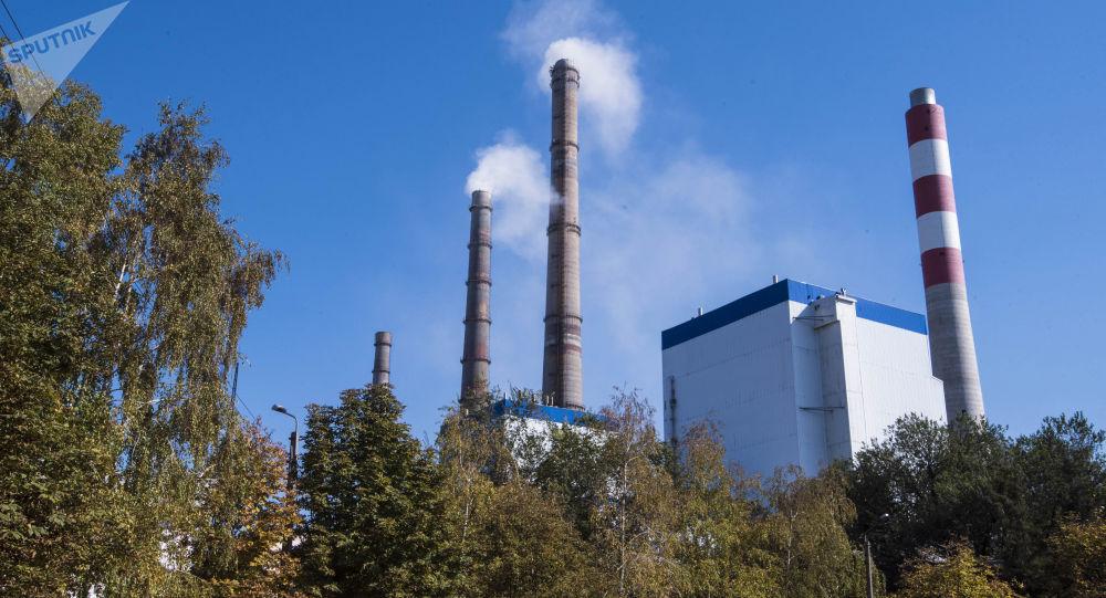 Вид на столичную теплоэлектроцентраль. Архивное фото