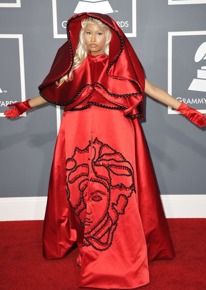 Ники Минаж на красной дорожке 54-й церемонии Грэмми в Лос-Анджелесе