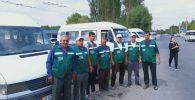 Водители микроавтобусов города Ош начали переходить на новую единую форму