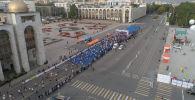 В воскресенье, 15 сентября, в Бишкеке впервые провели международный забег Сохраним снежного барса.