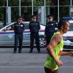 Общественную безопасность обеспечивали сотрудники милиции