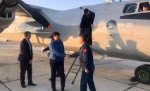 Премьер-министр Кыргызской Республики Мухаммедкалый Абылгазиев на военно-транспортном самолёте Вооруженных Сил Кыргызской Республики прибыл в Баткенскую область
