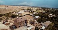 Вид на жилые дома в приграничном с Таджикистаном селе Баткенской области. Архивное фото