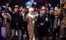 В Таласской области 21 сентября состоялось официальная церемония закрытия первых Национальных игр кочевников.