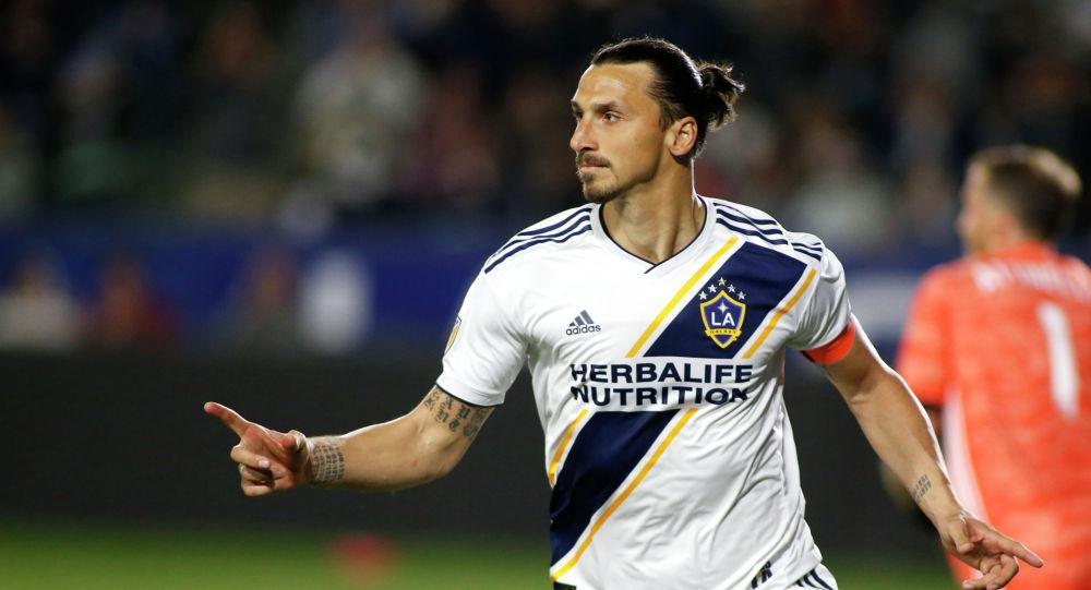 Футболист Златан Ибрагимович из Лос-Анджелес Гэлакси. Архивное фото
