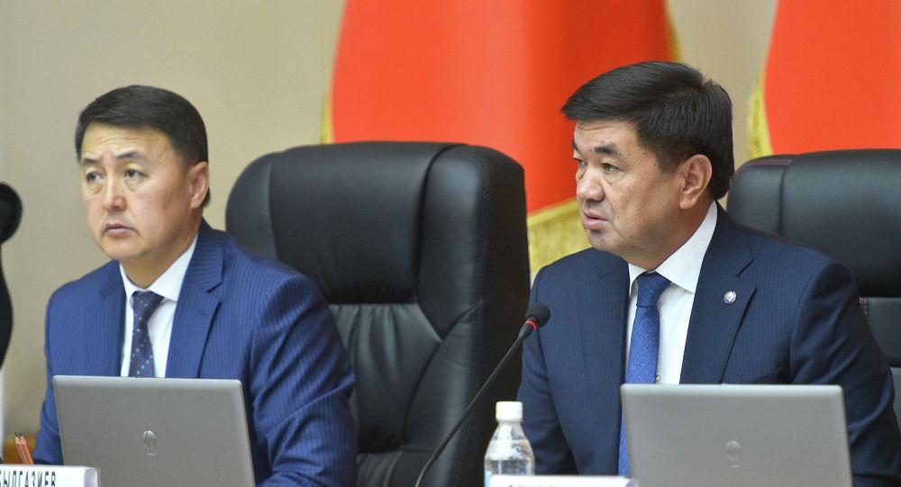 Премьер-министр Мухаммедкалый Абылгазиев Өкмөттүн бүгүнкү отурумунда