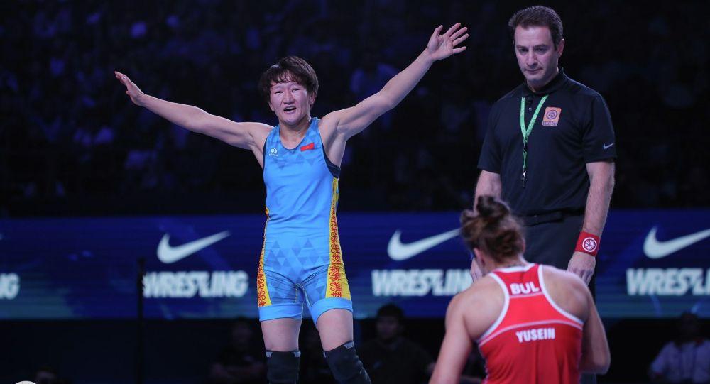 Кыргызстандык спортчу Айсулуу Тыныбекова. Архивдик сүрөт