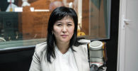 Эмгек жана социалдык өнүктүрүү министринин кызмат ордуна сунушталып жаткан Ализа Солтонбекова. Архив