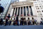 Нью-Йоркская фондовая биржа, расположенная на улице Уолл-Стрит. Архивное фото