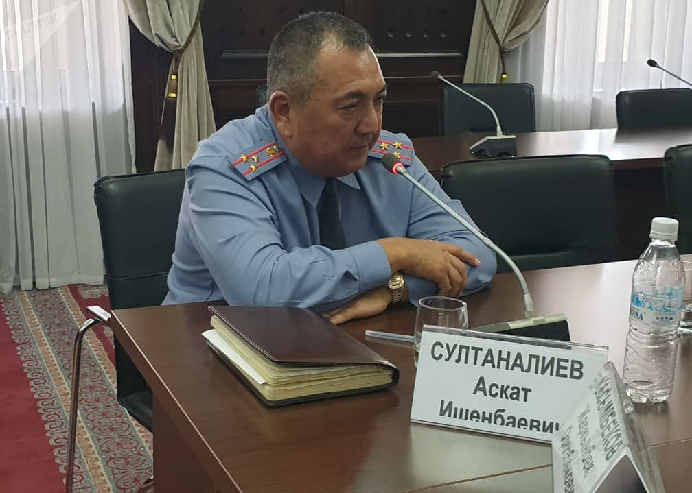 Командир полка специального назначения МВД КР Аскат Султаналиев