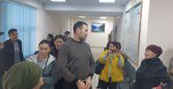 Экс-сотрудник 9-й службы ГКНБ Канат Сагымбаев в первомайском районном суде Бишкека
