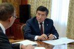 Президент Сооронбай Жээнбеков бүгүн, 2-октябрда, Улуттук банктын төрагасы Толкунбек Абдыгуловду кабыл алды