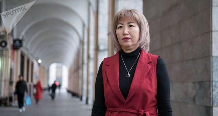 Вдова полковника Октября Рыскулбекова, участника баткенских событий Анара Усенбекова
