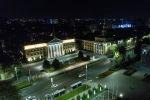 Вид на здание мэрии Бишкека в ночное время. Архивное фото