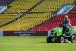 Вид на стадион имени Долона Омурзакова в Бишкеке, где сегодня пройдет матч Кыргызстан — Мьянма