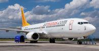 Самолет авиакомпании Air Manas в аэропорту Манас. Архивное фото