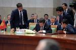 Президент Кыргызской Республики Сооронбай Жээнбеков на заседании Совета глав государств Содружества Независимых Государств (СГГ СНГ) в городе Ашхабад (Туркменистан). 11 октября 2019 года