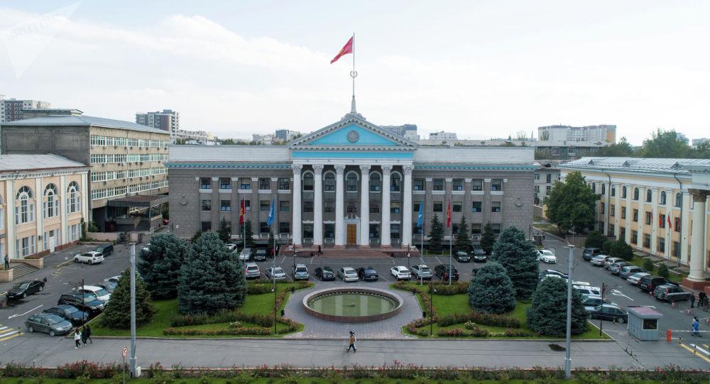 Бишкек мэриянын имараты. Архив