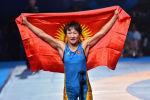 Дүйнө чемпиону, кыргызстандык балбан Айсулуу Тыныбекова. Архивдик сүрөт