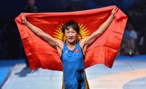 Кыргызстандык балбан кыз Айсулуу Тыныбнекова. Архив