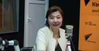 Заместитель председателя правления ОАО РСК Банк Айчурек Жакыпова во время беседы на радио Sputnik Кыргызстан