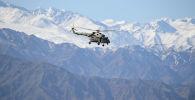 Вертолет во время совместных тактических учений. Архивное фото
