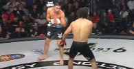 Казахстанский боец MMA Жасулан Акимжан одержал эффектную победу над призером Олимпиады–2016 Миграном Арутюняном на турнире в Сочи.