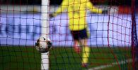 Футболист радуется после забитого мяча. Архивное фото