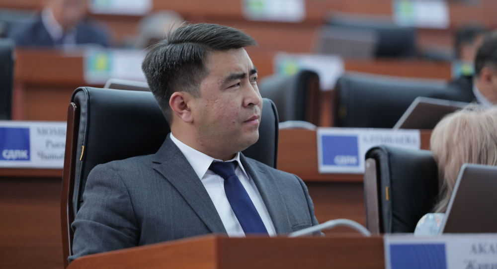 Депутат Жогорку Кенеша Жанар Акаев на заседании. Архивное фото