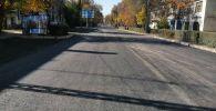 Процесс ремонта улицы Московской в Бишкеке. Архивное фото
