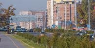 Автомобильное движение на улице Масалиева (Южная магистраль) в Бишкеке. Архивное фото