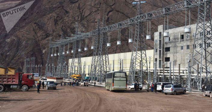 Строительство Рогунской ГЭС в Таджикистане. Архивное фото