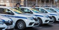 Сотрудники новой Патрульной службы милиции по городу Бишкек. Архивное фото
