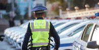 Сотрудник новой Патрульной службы милиции по городу Бишкек. Архивное фото