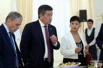 Президент Кыргызской Республики Сооронбай Жээнбеков встретился с руководителями средств массовой информации Кыргызской Республики и корреспондентами зарубежных СМИ, аккредитованных в стране. 2 ноября 2019 года