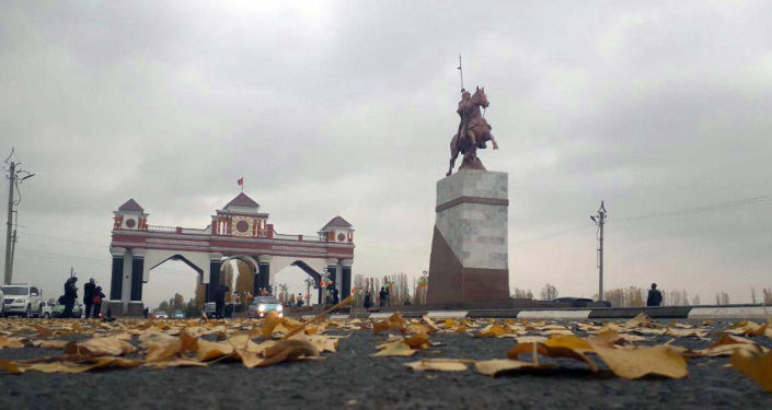 В Джалал-Абадской области реконструировали арку при въезде в город Джалал-Абад