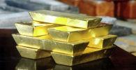 Слитки золота. Архивное фото