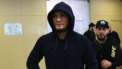 Абсолюттук мушкерлер чемпионатынын (UFC) жеңил салмактагы чемпиону, россиялык мушкер Хабиб Нурмагомедов. Архивдик сүрөт