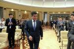 Архивное фото президента Кыргызской Республики Сооронбая Жээнбекова на открытии республиканского конгресса молодежи в Бишкеке. 12 ноября