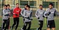 Япониянын футбол боюнча курама командасы беттеш алдында Бишкек шаарында биринчи машыгуусун өткөрдү