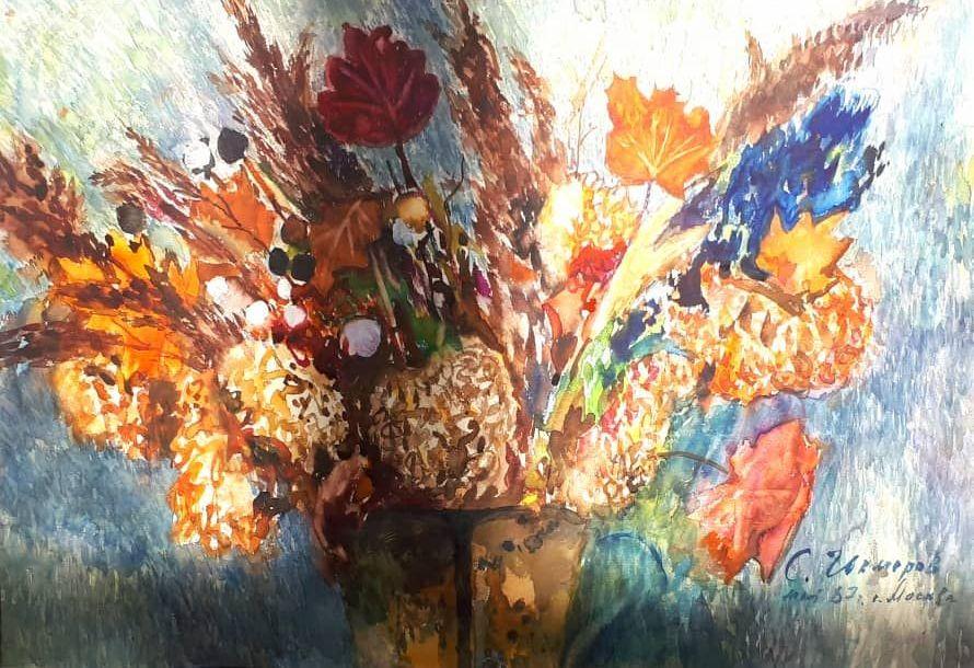 Картина нарисованная Суймонкулом Чокморовым