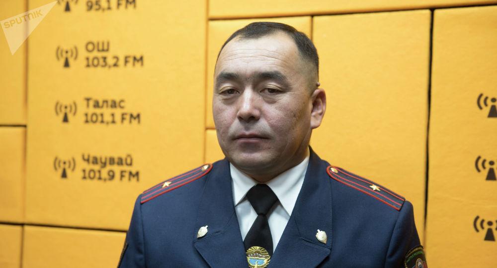 Бишкек ШИИББ боюнча Милициянын кайгуул кызмат башкармалыгынын башчысы Алмазбек Исаков