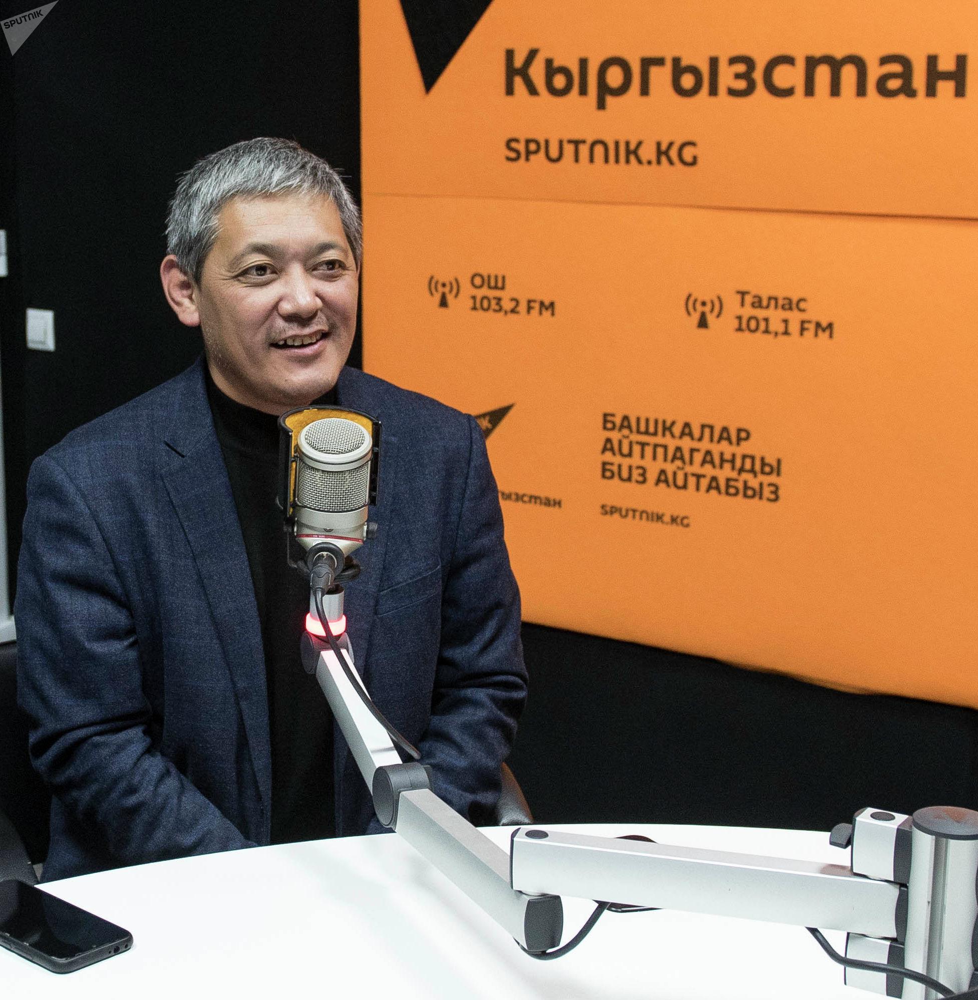 Член первичной организации Кыргызского общества слепых и глухих Бахтияр Мамбетказиев