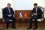 Министр иностранных дел Кыргызской Республики Чингиз Айдарбеков принял Заместителя министра иностранных дел Российской Федерации Андрея Руденко. 14 ноября 2019 года
