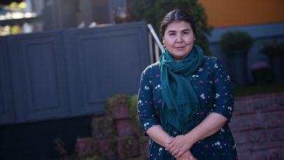 Предпринимательница, мастер войлочных ковров Айбарча Бекова