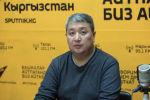 Исполнительный директор Ассоциации нефтетрейдеров КР Канат Эшатов на радиостудии Sputnik Кыргызстан